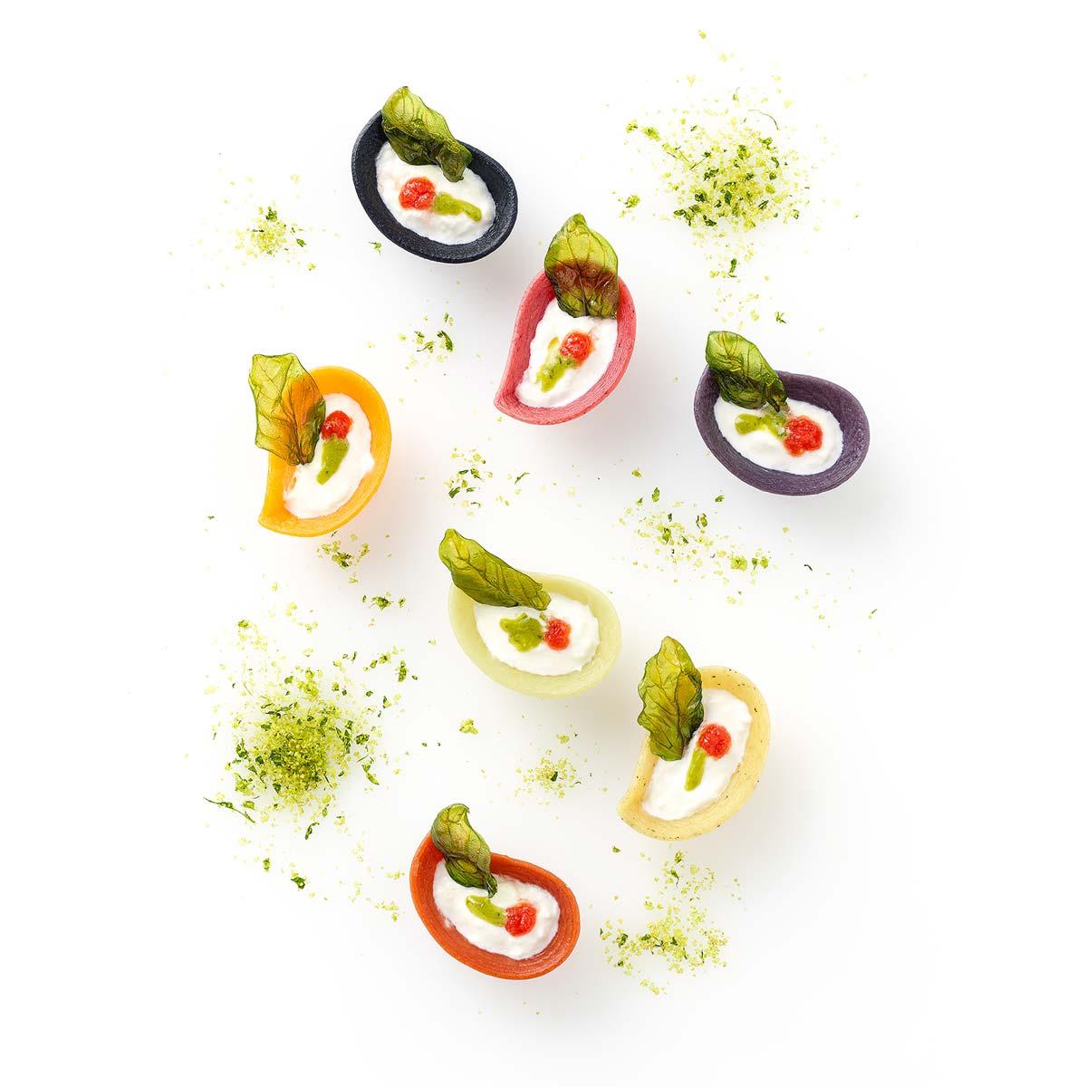 Petals pasta plate