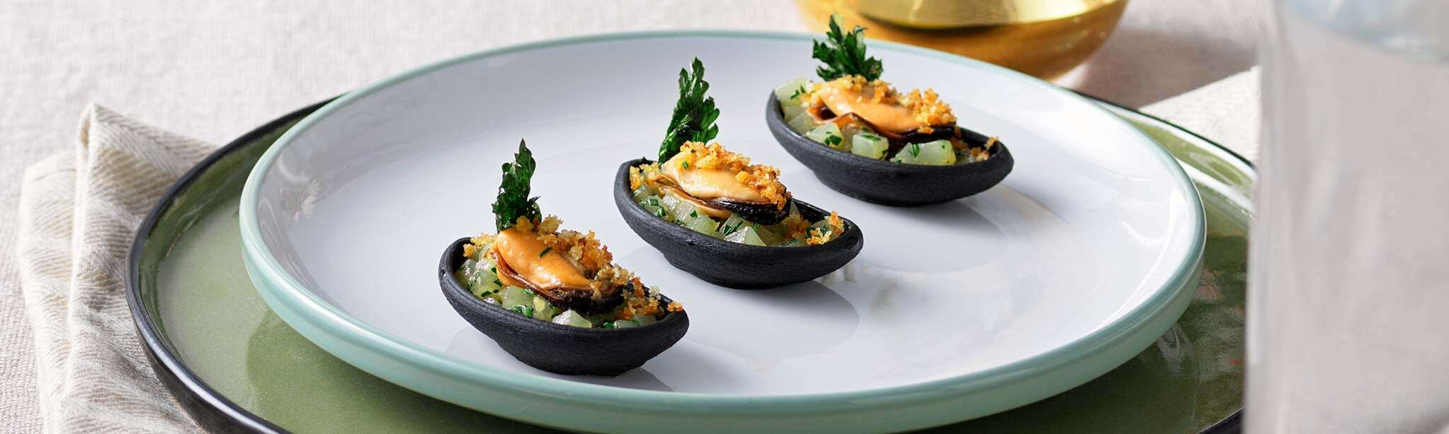 Potatoes and mussels