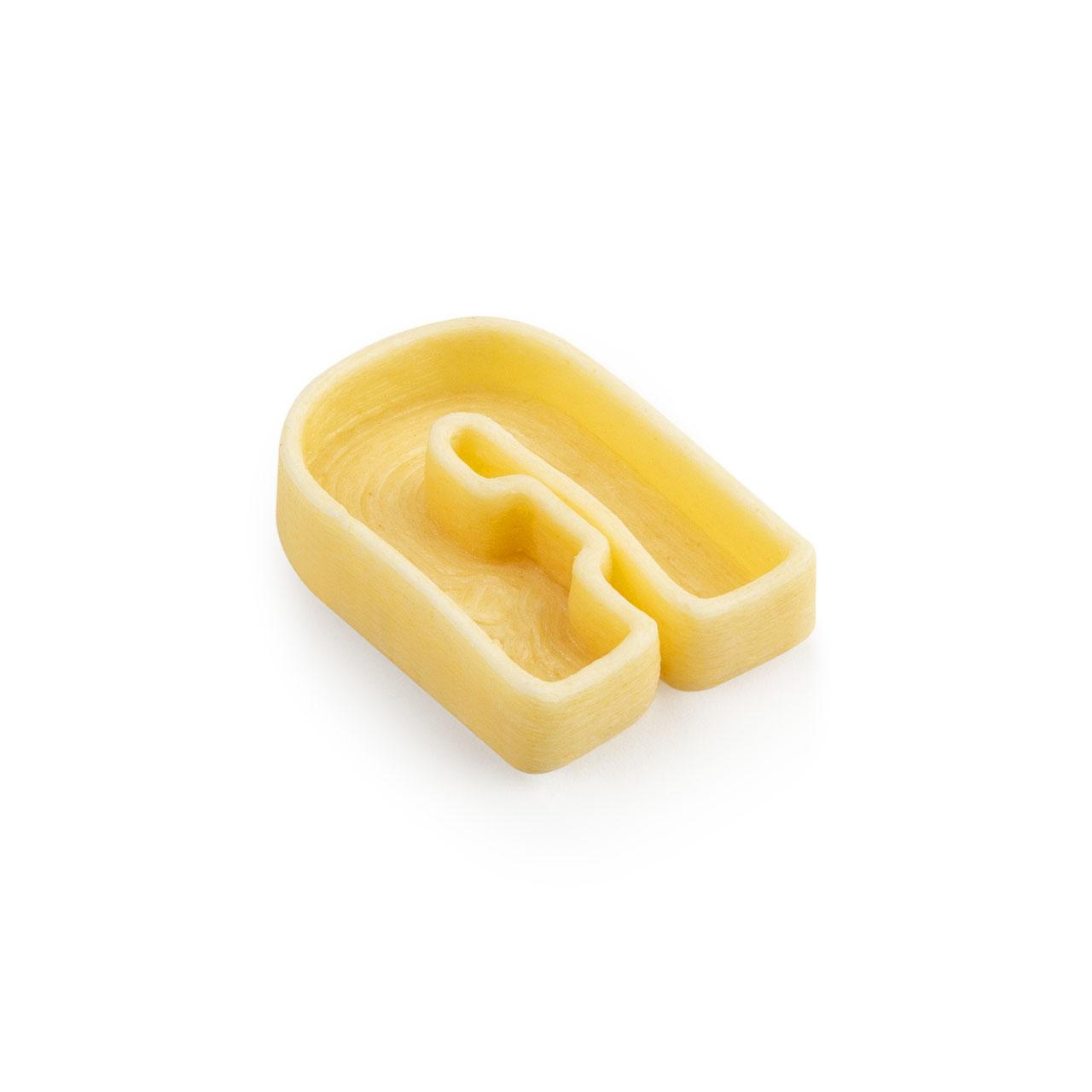 Lettere A di pasta