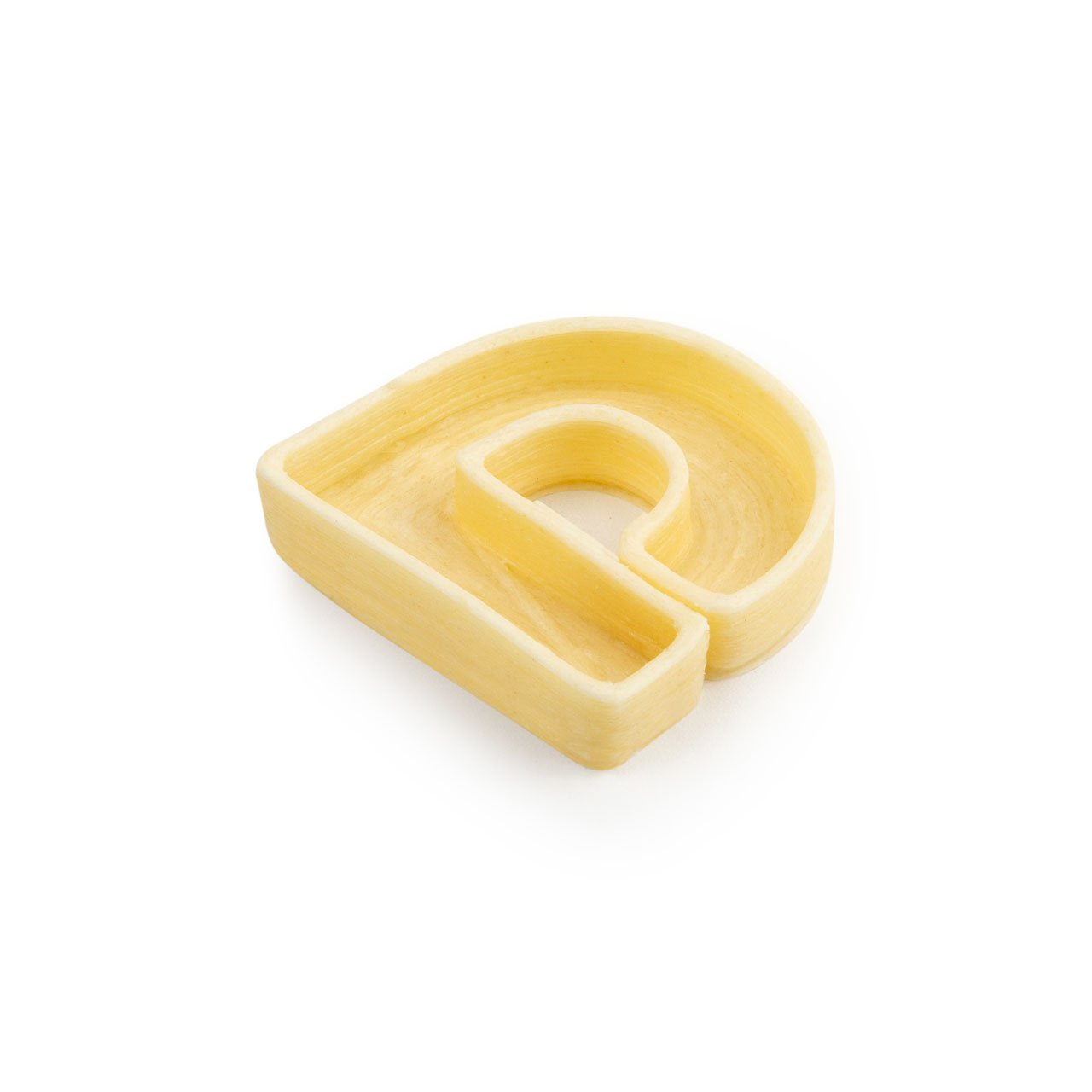 La lettera D di pasta