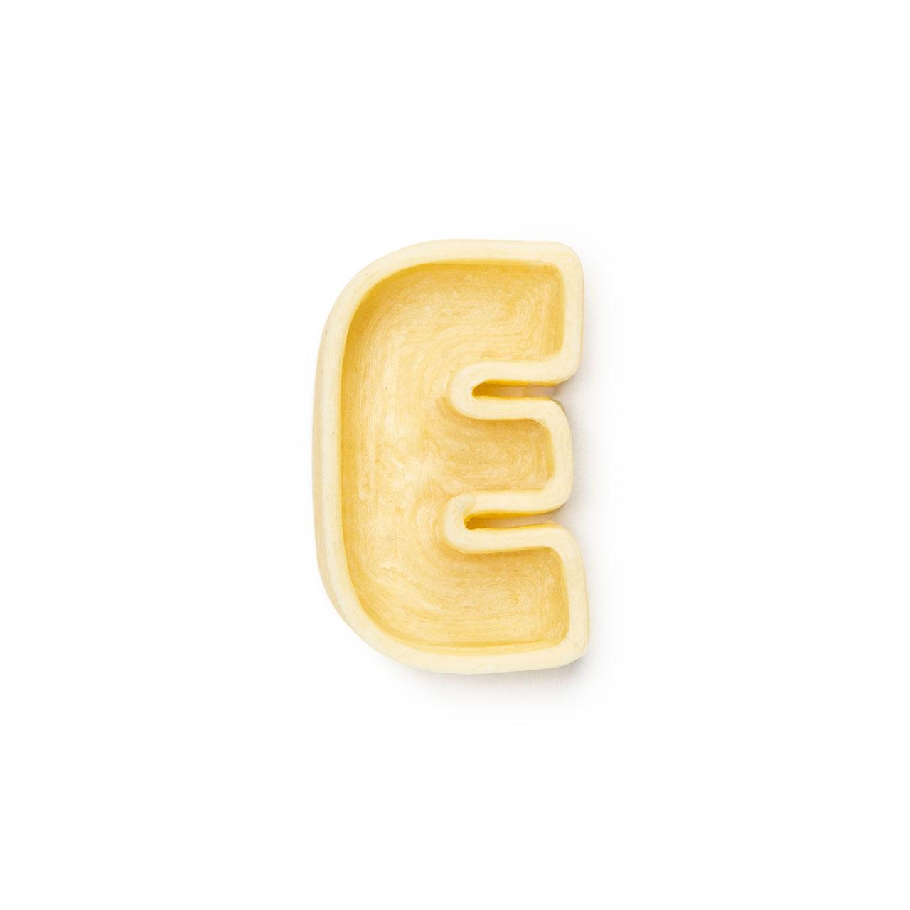 La lettera E di pasta