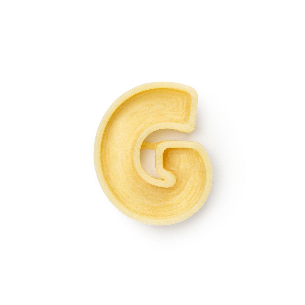 La lettera G di pasta