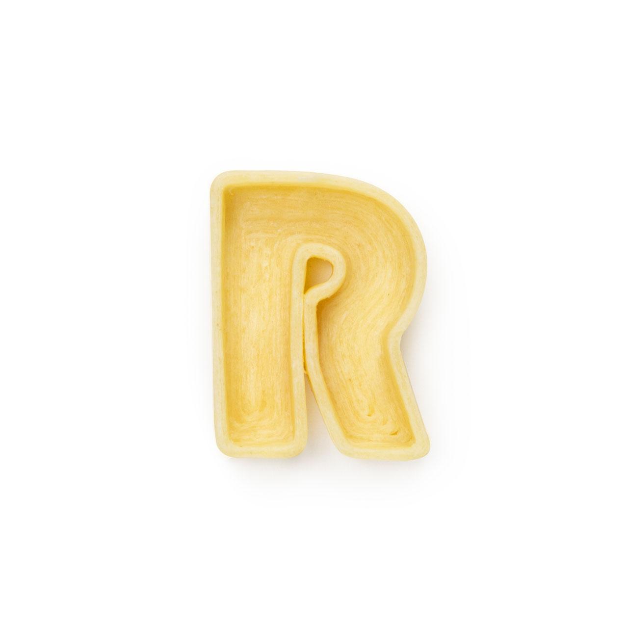 La lettera R di pasta