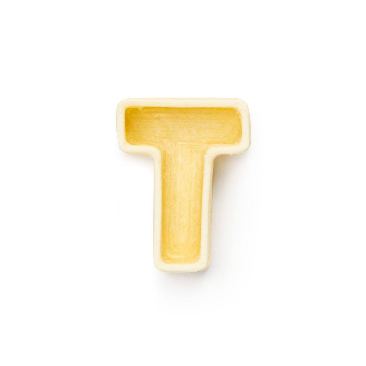 La lettera T di pasta