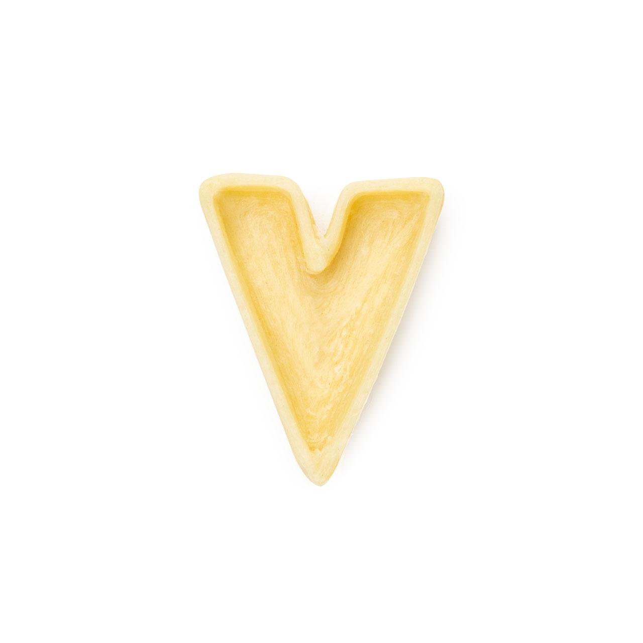 La lettera V di pasta