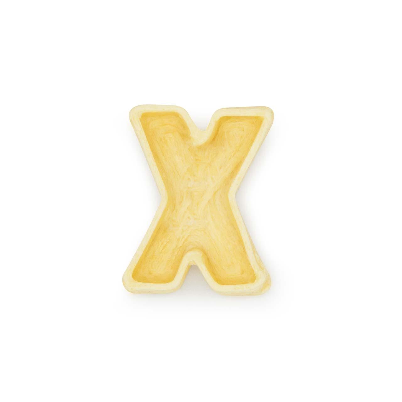 La lettera X di pasta