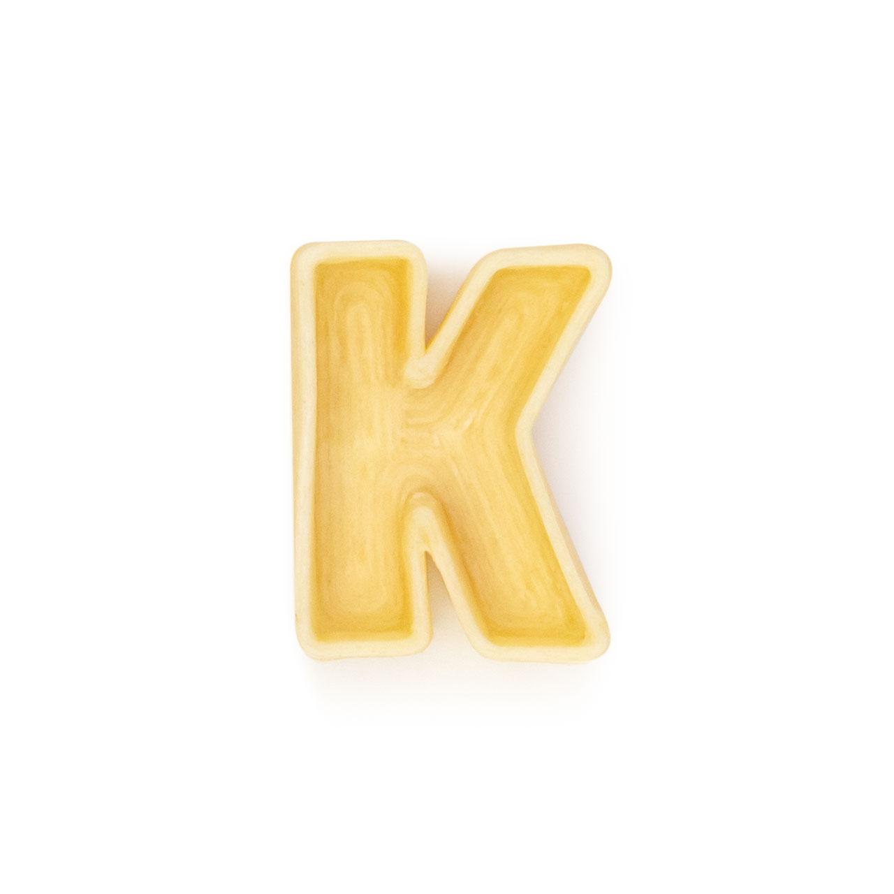 La lettera K di pasta